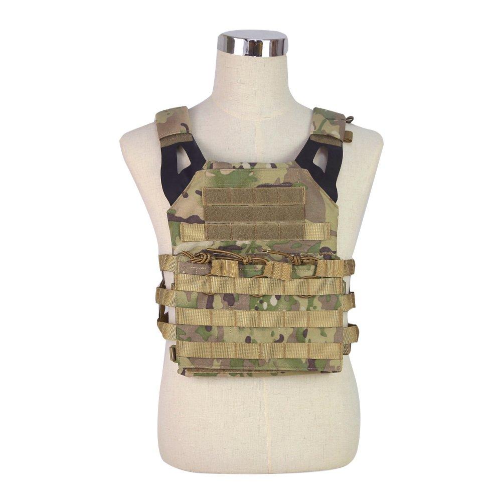 Military Army 7 Farbe Leichtgewichtige Trägerweste für Outdoor CS / Sprungplatte / Magazintasche WorldShopping4U
