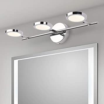 Led Vanity Lights 3 Lights Joosenhouse Wall Sconces Bath Light For Mirror In Home Bathroom Up Or Down Vanity Wall Lighting Fixtures 21 26 Inches Long Chrome 4000k Amazon Com