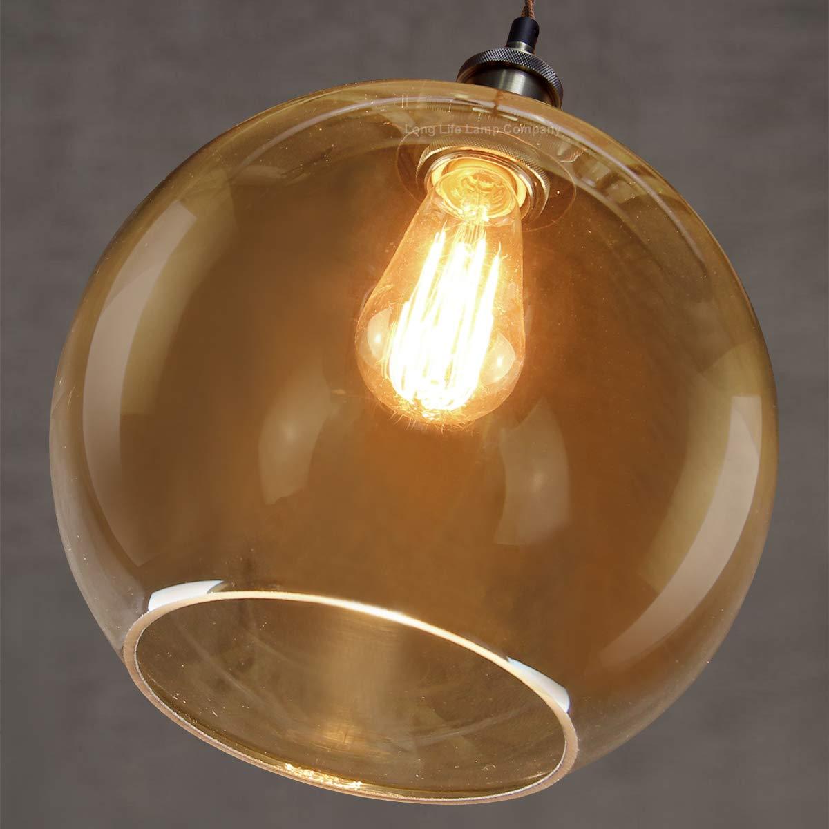 VINTAGE INDUSTRIAL METAL CAGE ORANGE CAFE LOFT BAR PENDANT LIGHT LAMP SHADE
