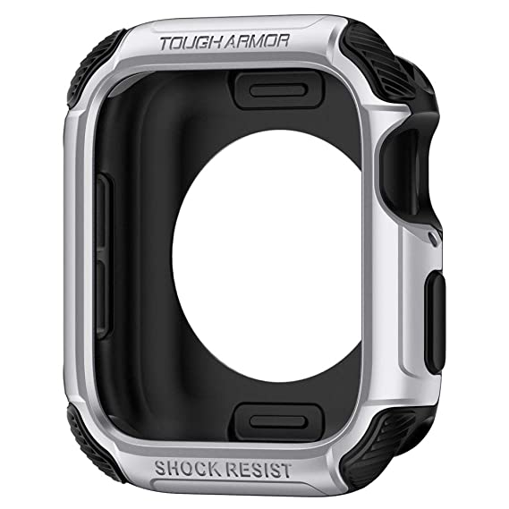 Amazon.com: Spigen Tough Armor Designed for Apple Watch Case for 44mm Series 4 (2018) - Silver: Electronics
