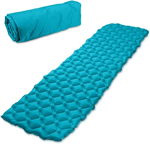 Navaris colchón Inflable con Estructura alveolada - Esterilla Hinchable para Camping en DIV. Colores - Colchoneta de Aire portátil para Dormir: Amazon.es: Deportes y aire libre