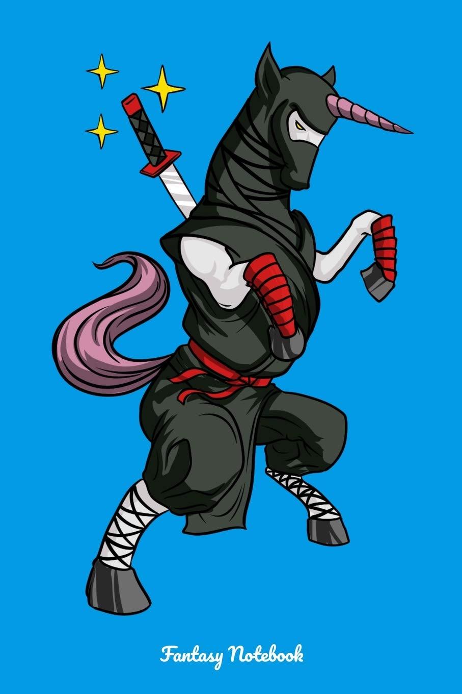 Fantasy Notebook: Unicorn Ninja Notebook: Cloud Tower ...