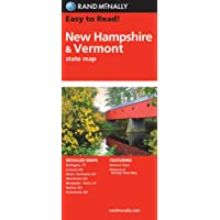 Rand McNally Easy to Read! New Hampshire/Vermont State Map