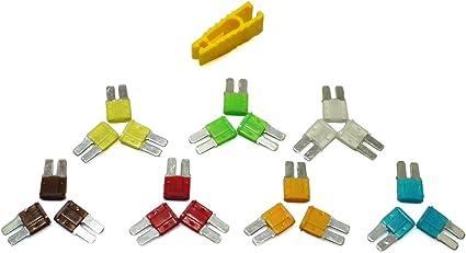 Kfz Pkw Auto 21 Micro2 Sicherungen Flachsicherungen Blattsicherung 5a 10a 15a 20a 25a 30a Auto