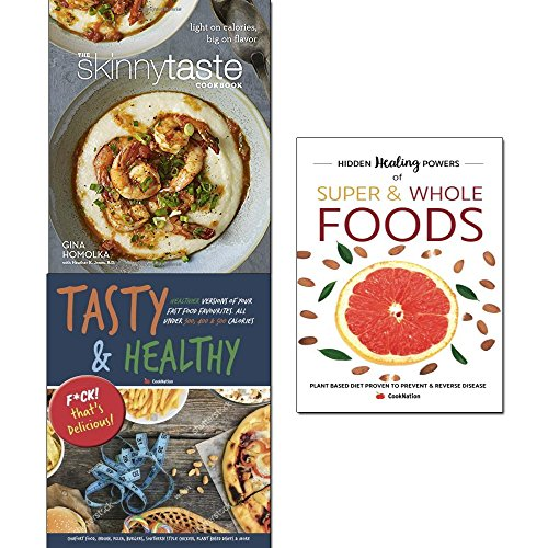 Book cover from Skinnytaste cookbook [hardcover], hidden healing powers of super & whole foods and tasty & healthy 3 books collection set by Gina Homolka