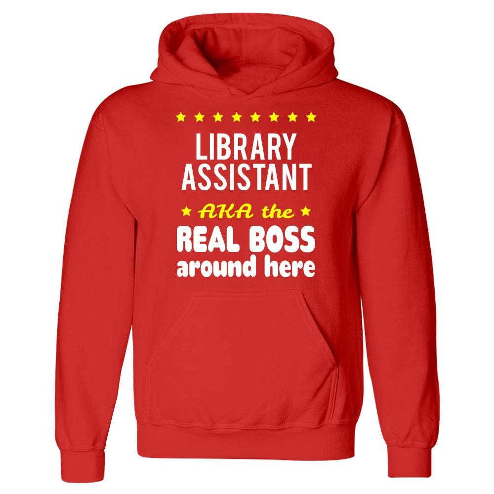 Library Assistant AKA The Real Boss Around Here Hoodie