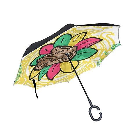 01fd8e117670 Amazon.com : Jojogood Quetzalcoatl Inverted Umbrella Reverse Auto ...