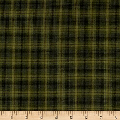 Fabric Plaid Glen (Henry Glass Believe Yarn Dye Mini Glen Plaid Green Fabric by The Yard)