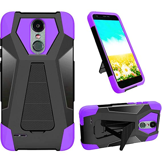 online store 656c1 59e61 Phone Case for Straight Talk LG Rebel-2 4g LTE (Tracfone) / LG Risio-2 / LG  Fortune/Phoenix-3 GoPhone/LG Aristo Rugged Cover Wide Stand (Wide Stand ...