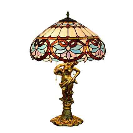 Tiffany Style Lámpara De Mesa Artesanal Vidrieras ...