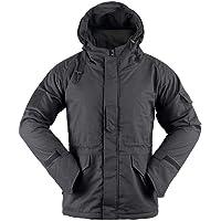 AKARMY Men's Outdoor Warm Winter Snow Coat Waterproof Soft Shell Windbreaker Hooded Military Tactical Fleece Ski Jacket