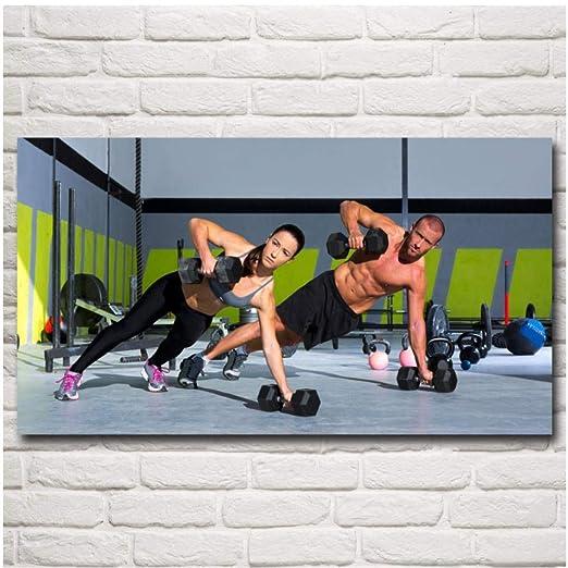 XIXISA Mancuernas Culturismo Fitness Deporte Arte Seda Carteles e ...