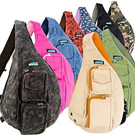 Meru Sling Bag - Sling Backpack for Women & Men – Crossbody Bags for Women & Men 11 MERU PREMIUM QUALITY crossbody backpack for women and men. MERU's mini backpack for women and men is a uniquely designed small backpack made from breathable ALL NATURAL COTTON CANVAS for all your edc backpack needs. Our superior style, functional design, comfort and quality are second to none MERU CROSSBODY BAGS For Women and Men feature a large inner compartment with zippered storage pocket, insulated iPad/tablet pocket, cellphone pocket, security pocket, hidden card holder and water bottle holder. Our lightweight packable backpack / daypack comes in several styles and colors PURE COMFORT EDC BAG DESIGN – Only MERU features an exclusive 'soft carry' memory foam single strap backpack men and women will love. Just one of many reasons why our crossbody sling bag is a top rated small sling backpack on Amazon