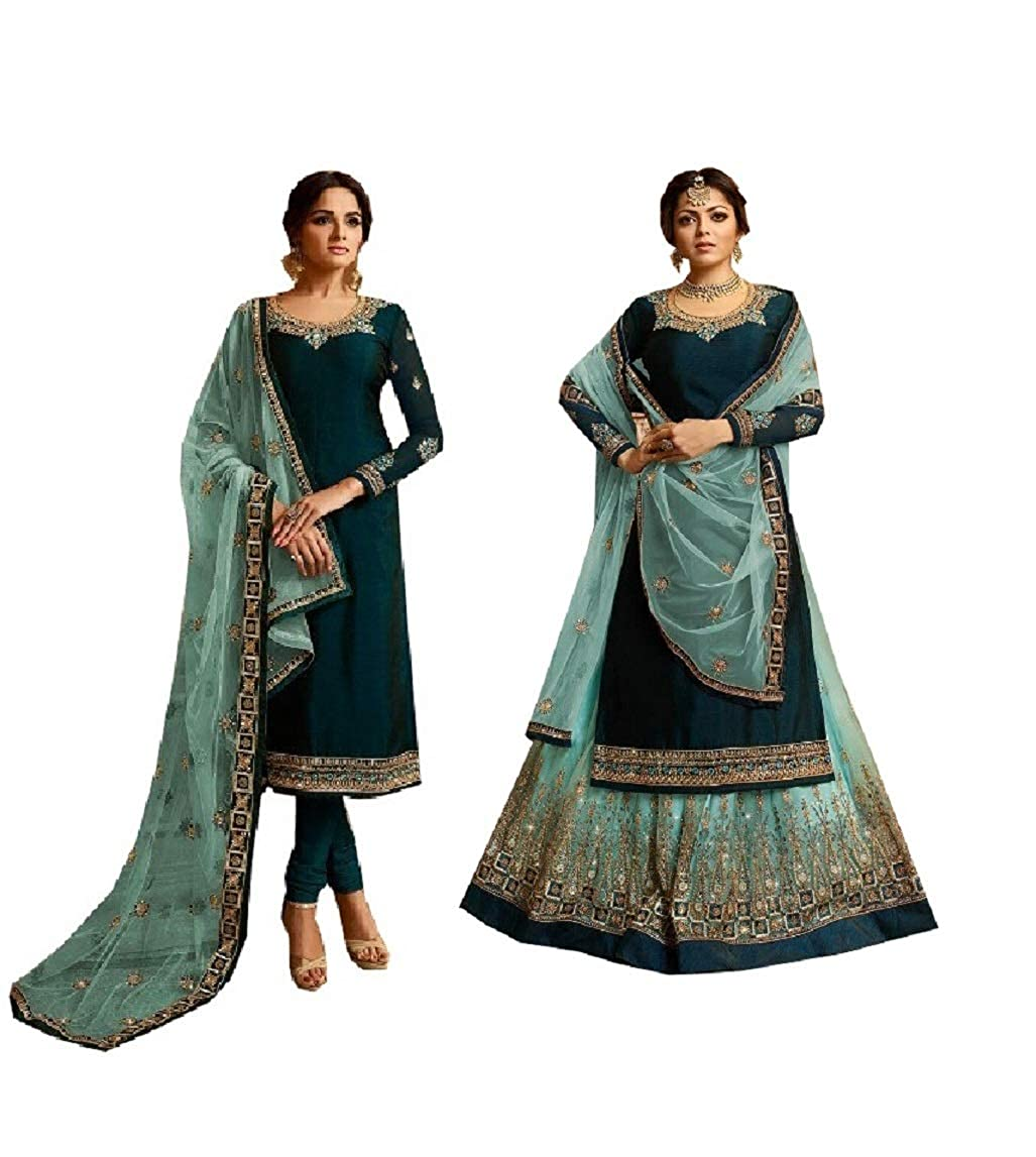 Kameez with salwar STELLACOUTURE Eid Special Ethnic wear Indian Pakistani Salwar Kameez with Lehenga Suit for Women 3005