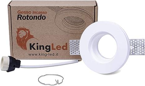 KingLed - Aplique de pared en Yeso Cerámico para falsos techos de ...