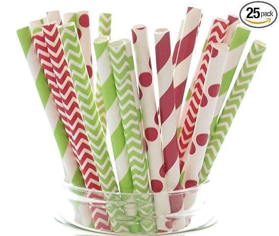 25 paper straws summer birthday party baby shower wedding eco friendly uk