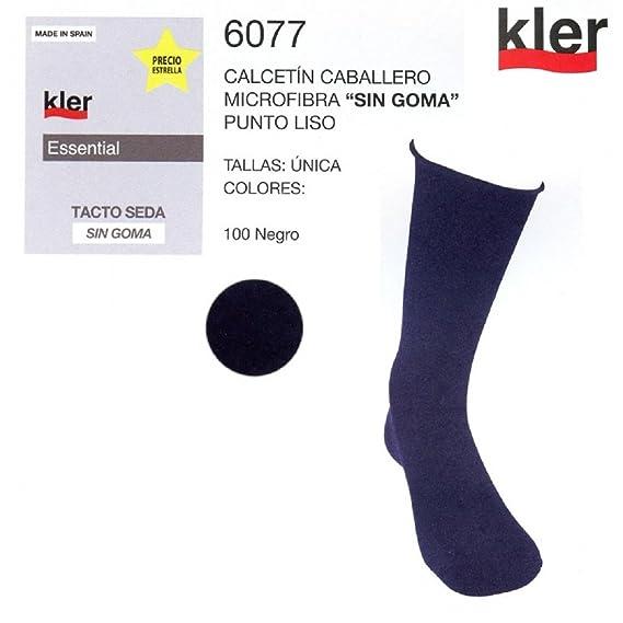 "KLER 6077 - calcetin caballero microfibra ""sin goma"" ..."