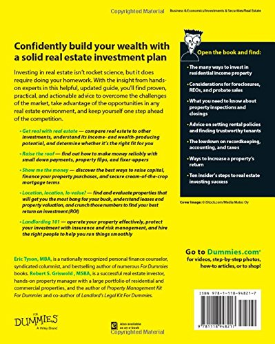 Real Estate Investing For Dummies: Eric Tyson, Robert S. Griswold ...