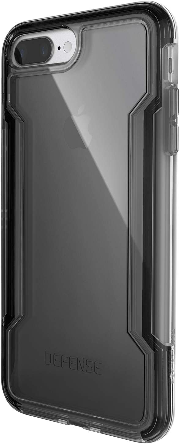 X-Doria iPhone 8 Plus & iPhone 7 Plus Case, Defense Clear - Military Grade Drop Protection, Clear Protective Case for iPhone 8 Plus & 7 Plus (Black)