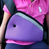 JCNCE Car Child Safety Cover Harness Repositions Strap Adjuster Pad Kids Seat Belt Seatbelt Clip Booster Adult Children Seat Belt Clips (Purple)