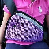 JCNCE Car Child Safety Cover Harness Repositions Strap Adjuster Pad Kids Seat Belt Seatbelt Clip Booster Adult Children Seat Belt Clips (Purple)