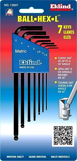 EKLIND 18520 10 MM Stubby-Ball-Hex-L Key Allen Wrench Pack of 5