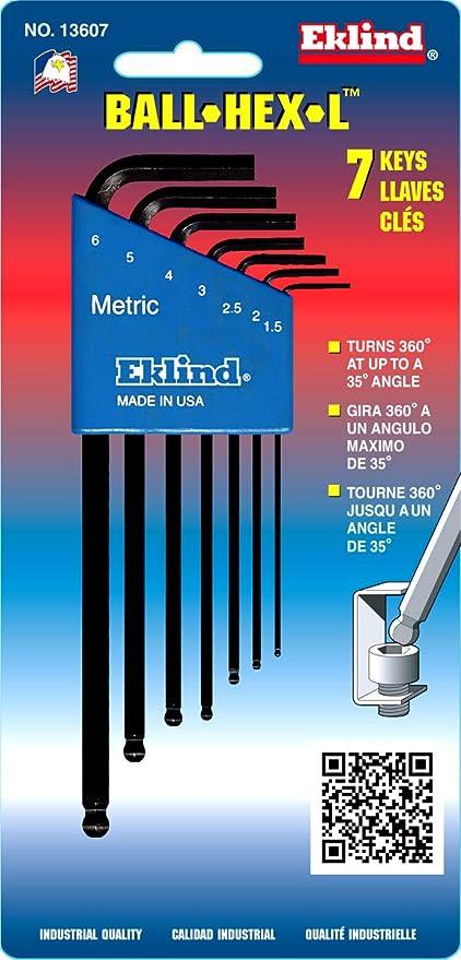 BONDHUS 9 Piece Metric Ball End Hexagonal Allen Clé Set 1.5-10mm L Clé