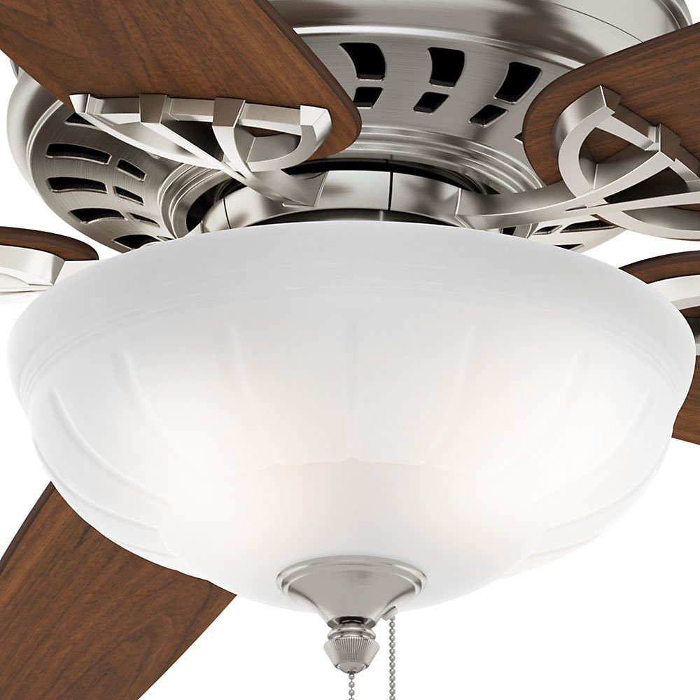 Casablanca 54023 Concentra Gallery 54-Inch 5-Blade Single Light Ceiling Fan, Brushed Nickel with Walnut/Burnt Walnut Blades and Cased White Glass Bowl Light by Casablanca (Image #11)