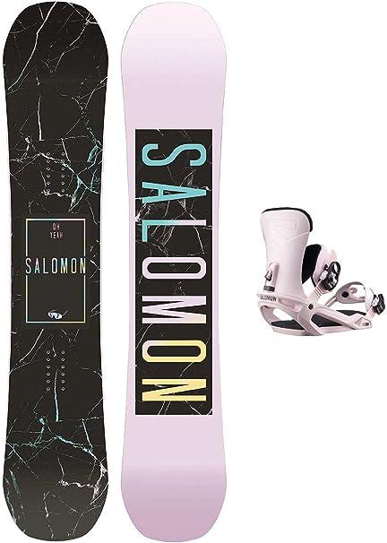 SALOMON Damen Snowboard Set Oh Yeah 147 + Vendetta M Pink uKswf