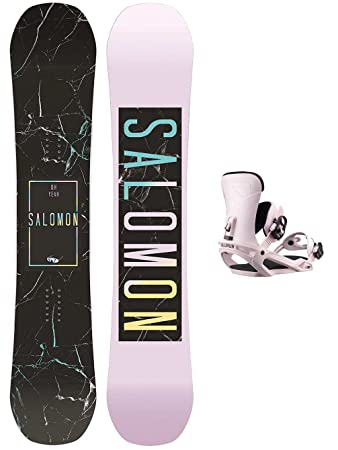 Salomon Damen Snowboard Set Oh Yeah 151 + Vendetta Pink 2019