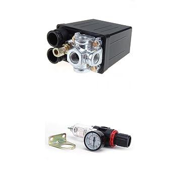 Presostato Compresor de aire válvula de control de compresor 175PSI 240 V, regulador de filtros