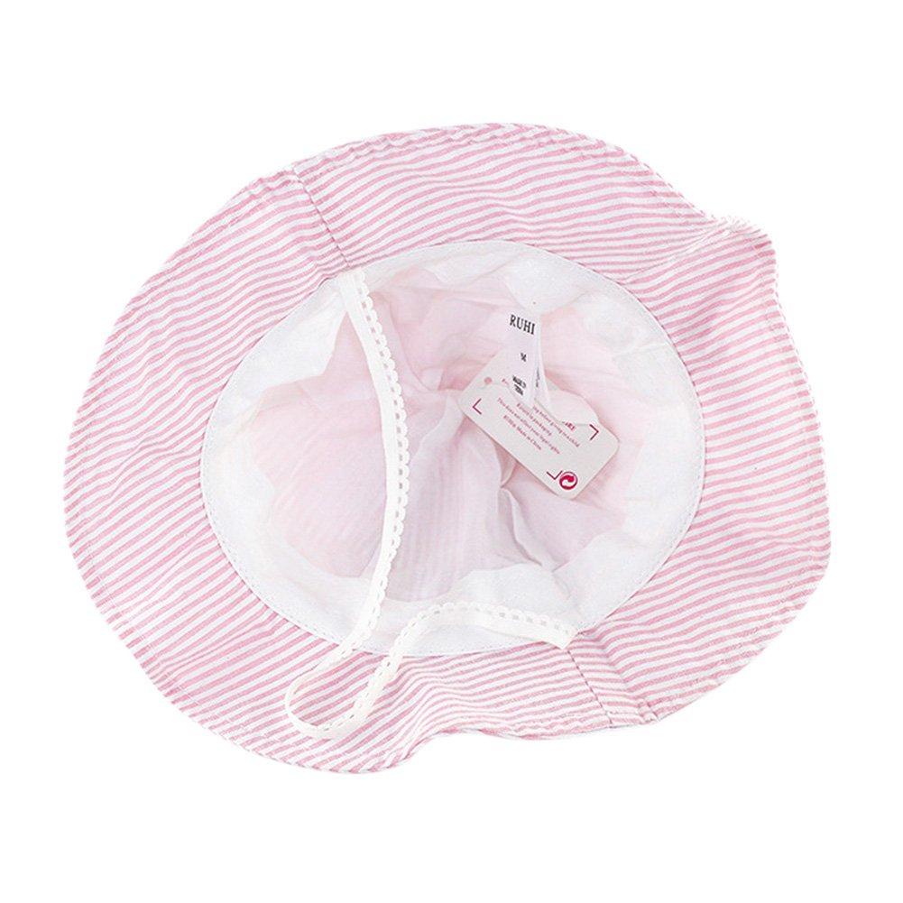 Tortor 1Bacha Newborn Infant Baby Toddler Kid Girl Bunny Ear Striped Bucket Hat