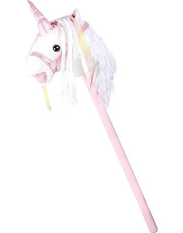 Caballo de palo, Unicornio blanco.