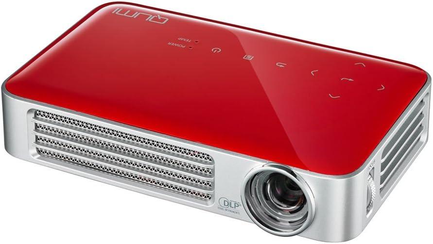 Vivitek Q6 Rd Qumi Kompakter Led Pocket Personal Projektor Wxga Kontrast 30 000 1 800 Ansi Lumen Mhl 2 5gb Interner Speicher Hdmi Usb Type A Media Dokumentenviewer Rot Vivitek Home Cinema Tv Video