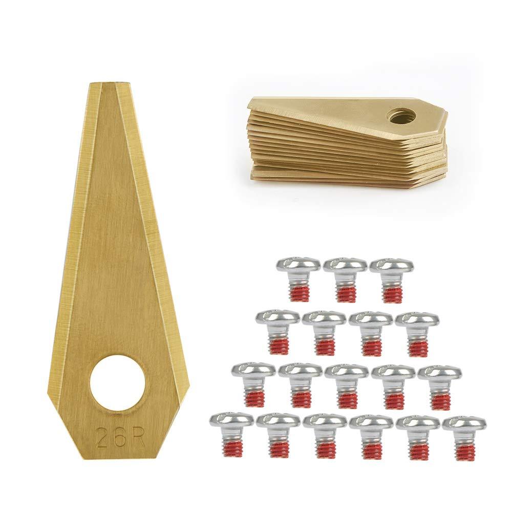 TIMESETL 18 Cuchillas de Repuestos para Bosch indego Titanio ...