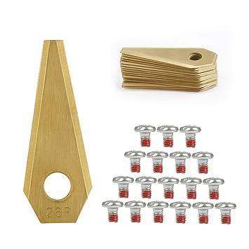 TIMESETL 18 Cuchillas de Repuestos para Bosch indego Titanio para ...