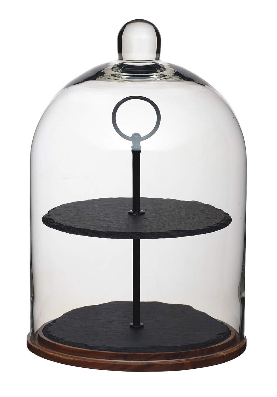KitchenCraft Artesà 2-Tier Serving Stand/Cake Dome, 22 x 31 cm ART2TDOME