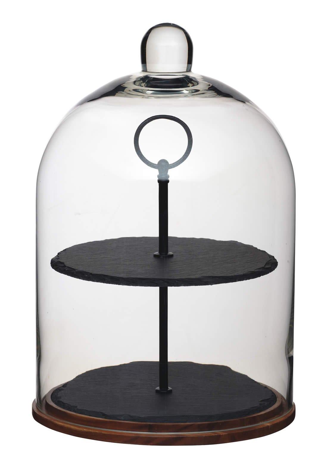 Masterclass Artesà 2-tier Serving Stand / Cake Dome, 22 x 31cm (8.5'' x 12'') by Artesa (Image #1)