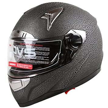2d481820 Cracked Paint Texture Reptile Skin Effect Dual Visor Motorcycle Street Bike  Helmet DOT (S), Helmets - Amazon Canada