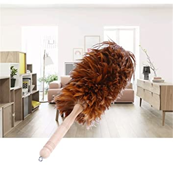 Attrayant Feather Dusters Cleaning, With Solid Wood Handle U0026 Rooster Chicken Feathers,  For Cleaning Furniture