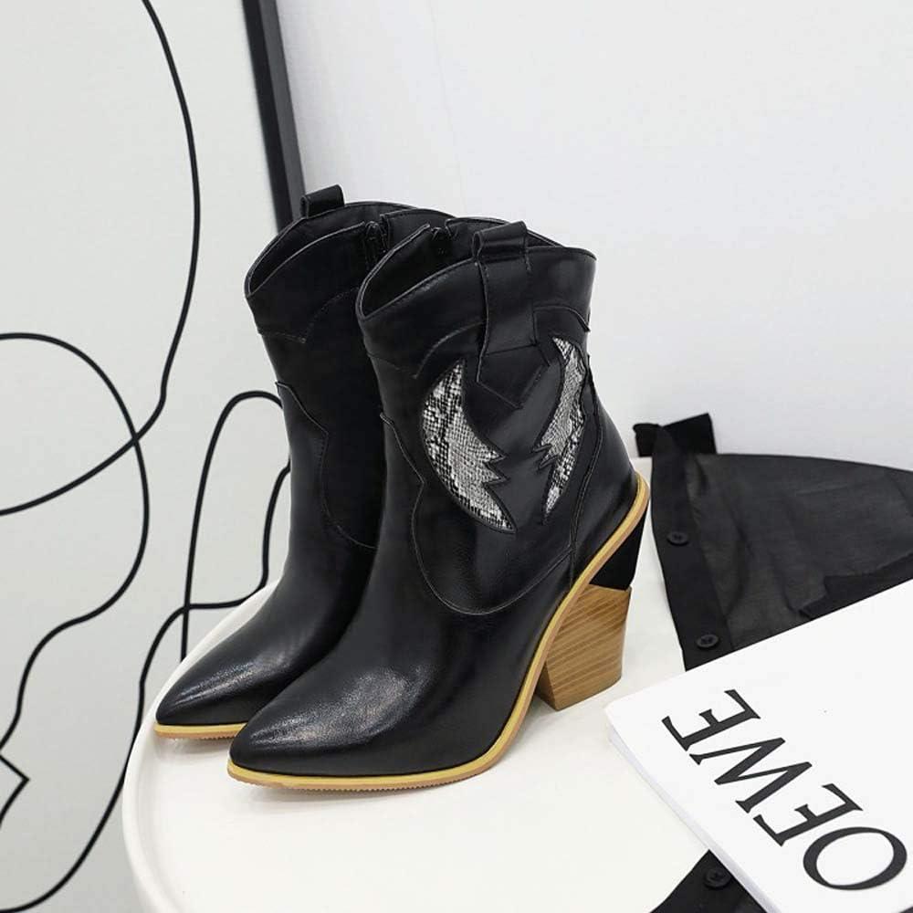 Gasgff Talón De Cuña del Tobillo De Las Botas De Los Zapatos Mujeres De Gran Tamaño Negro