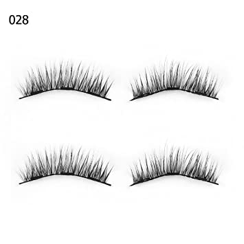 f66a08e02a3 Amazon.com : 1 Set 0.07 Triple Magnetic False Eyelashes Extension Tools  Full Coverage Glue-Free Magnets Eye Lashes Thick Long Makeup Tools 028 :  Beauty