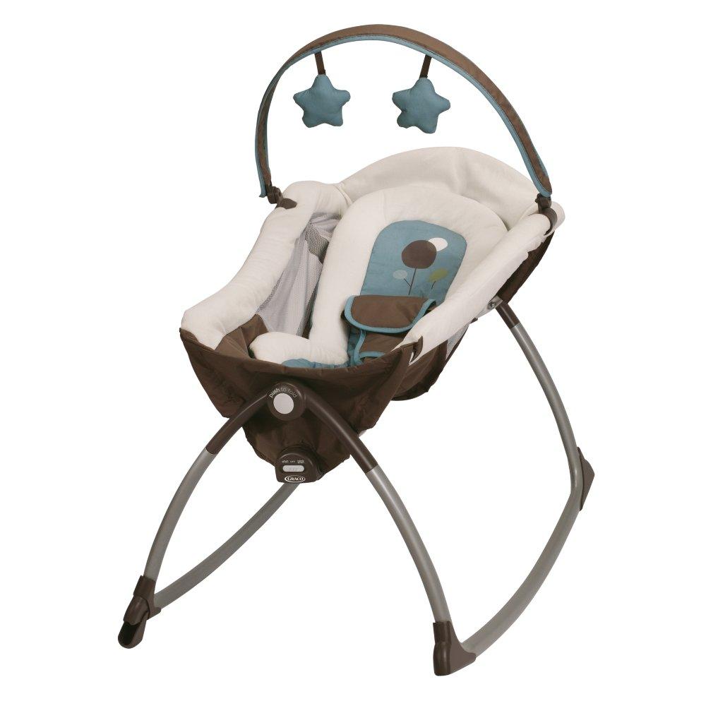 Amazon.com: Graco pequeña tumbona con asiento mecedor ...