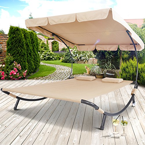 Miadomodo Sun Lounger Double Day Bed Hammock Chaise Outdoor Shade
