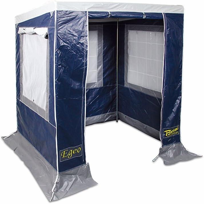 BERTONI Egeo 170 PVC ignífugo y Anti Rayos UV Cocina Picnic para Acampada, Azul/Gris, Tamaño Único