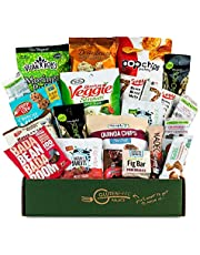 Snack Attack Vegan Snacks Care Package - Plant-Based Vegan, Gluten Free, Dairy Free, Non-GMO Cookies, Bars, Chips, Puffs, Fruit & Nuts. [20 Count],