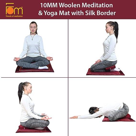 Amigos de meditación Yoga y Meditación (con Borde de Seda de ...