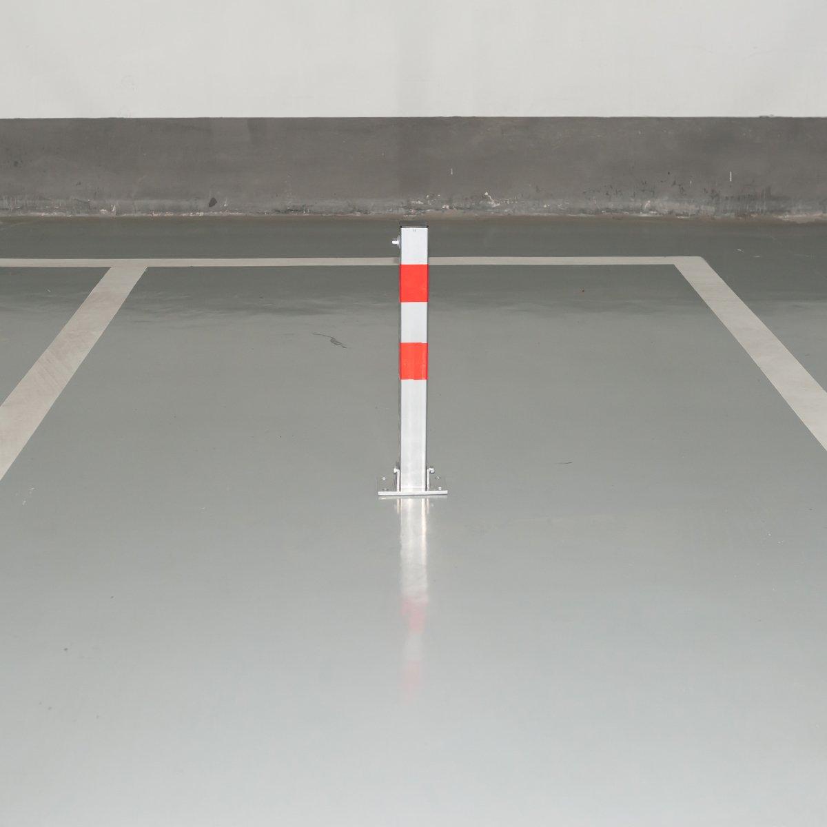 Platz RMAN Klappbare Parkpfosten ParkWatch Parkplatzsperre Absperrpfosten Parkplatz-Barriere mit Schl/üssel mit Schl/üssel