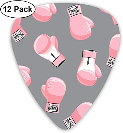 Boxing Gloves - Light Pink On Grey - LAD19_945 Classic Celluloid Picks, 12- Pack, For Electric Guitar, Acoustic Guitar, Mandolin, And Bass: Amazon.es: Instrumentos musicales