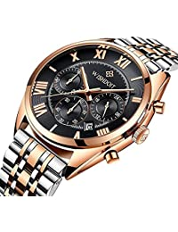 Mens Watches Top Brand Luxury Full Steel Clock Sport...